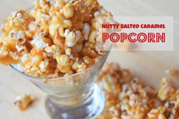 Nutty Salted Caramel Popcorn
