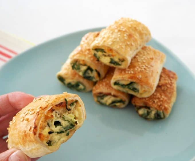 easy spinach and Ricotta rolls