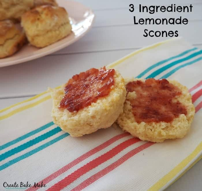 3 Ingredient Lemonade Scones