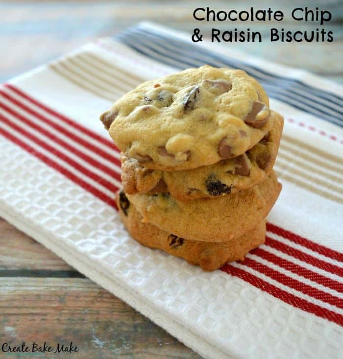 Choc Chip and Raisin Biscuits