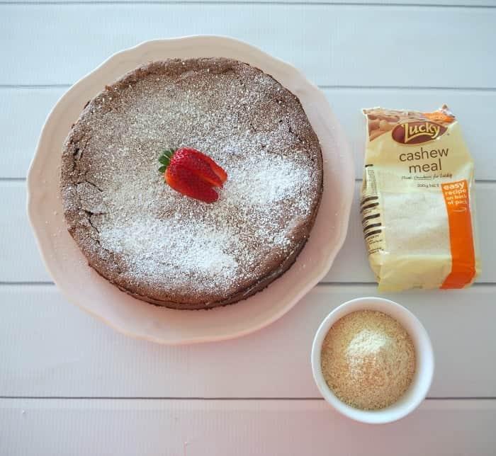 Flourless Chocolate and Cashew Cake