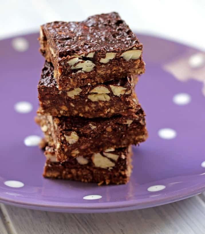 No Bake Chocolate, Almond and Coconut Slice