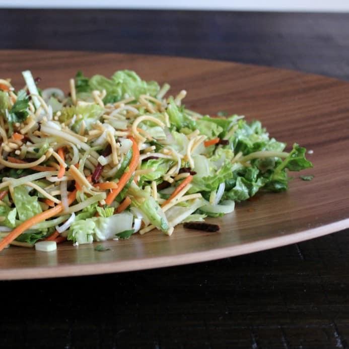 Crunchy Noodle Salad with Sesame Dressing