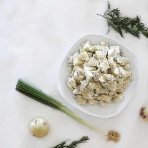 Potato Salad with horseradish Cream