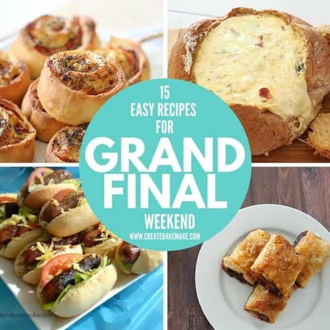 Grand Final Weekend Recipe Collection