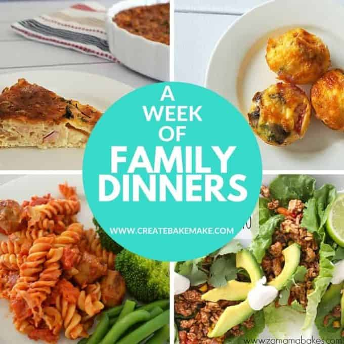 A week of family dinners