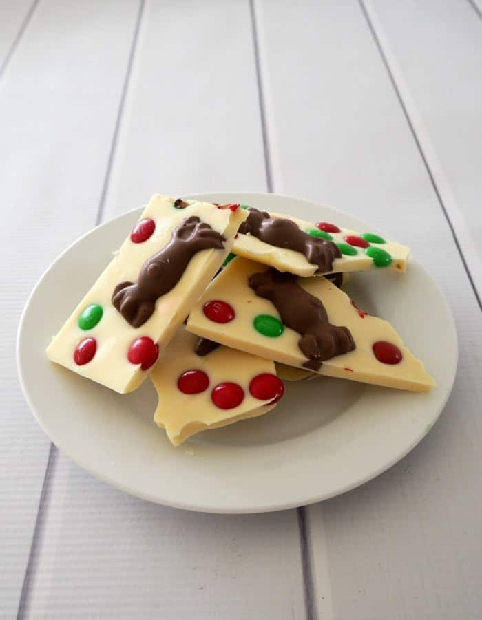 White Chocolate and Malteser Christmas Bark