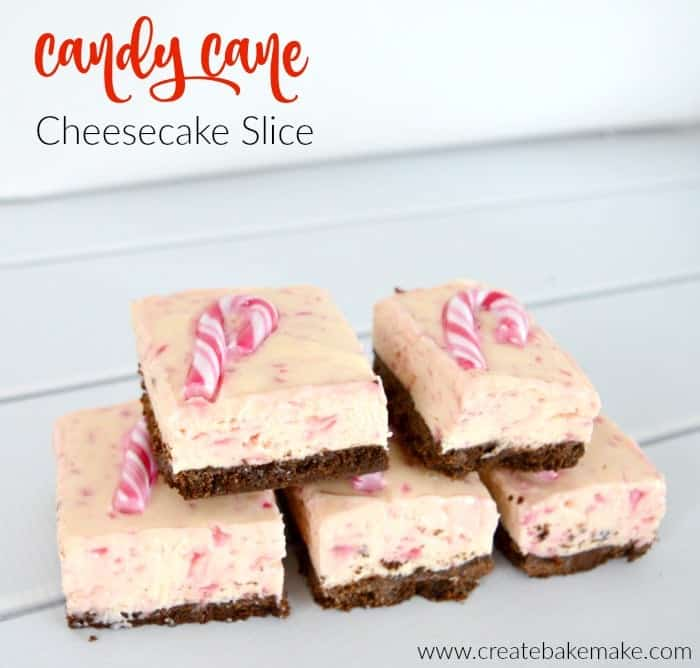 Candy Cane Cheesecake Slice - Create Bake Make