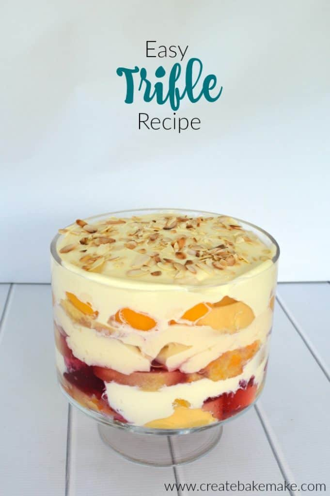 Side view of Trifle Recipe