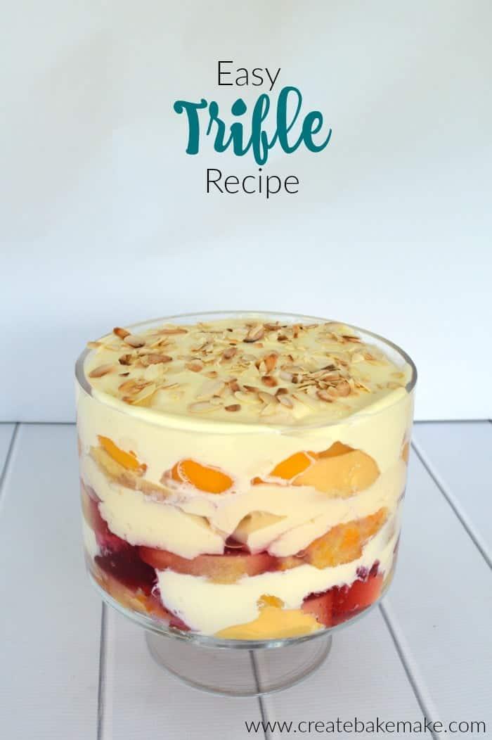 Easy Trifle Recipe Create Bake Make