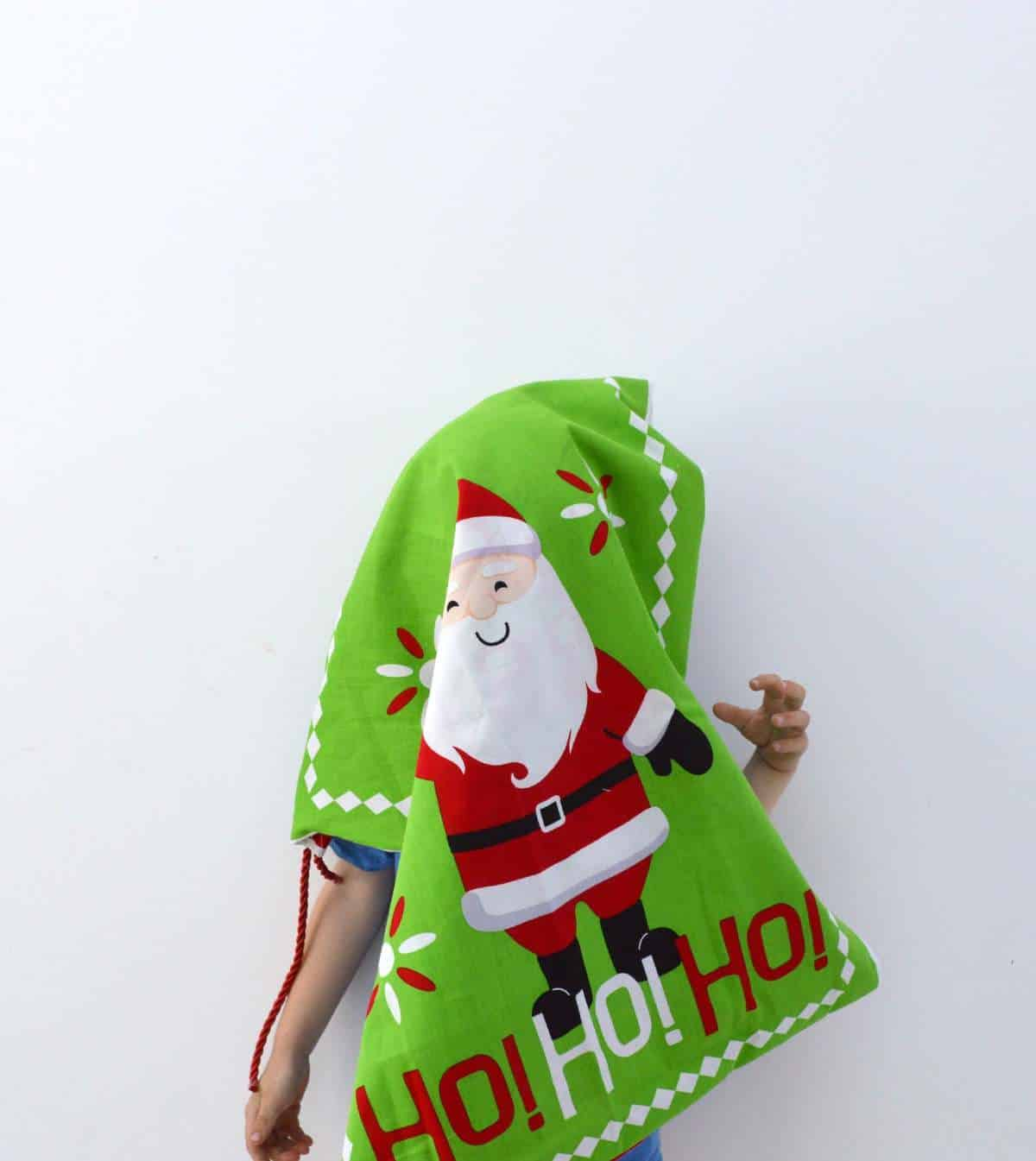 How to make a santa sack 1