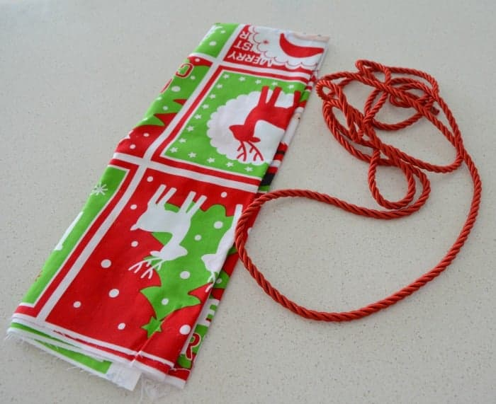 How to make a santa sack 2