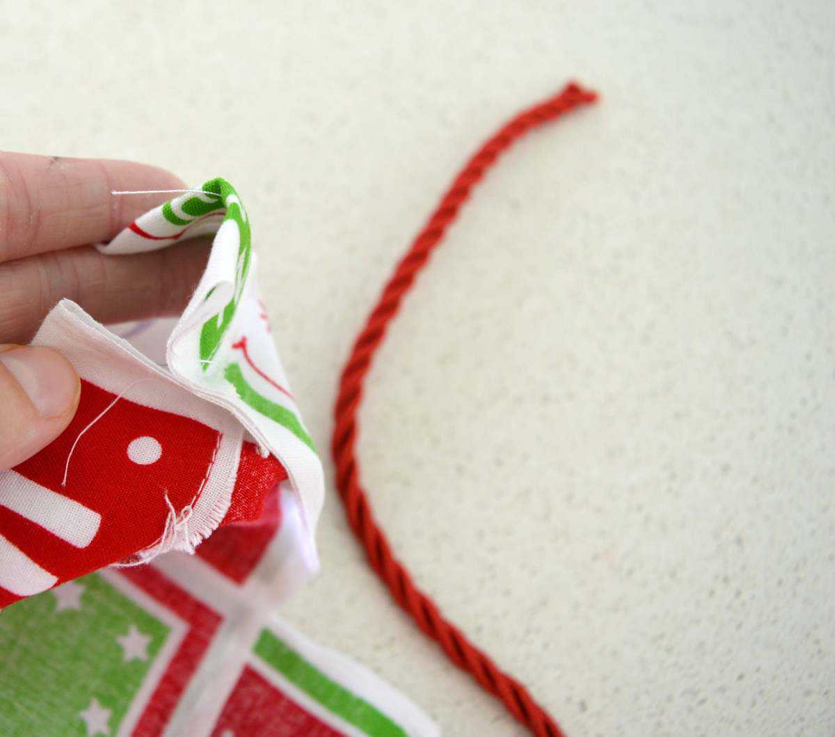 How to make a santa sack 5