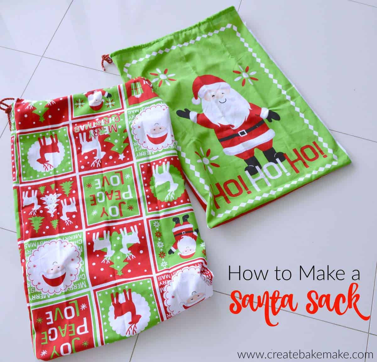 How to make a santa sack 6