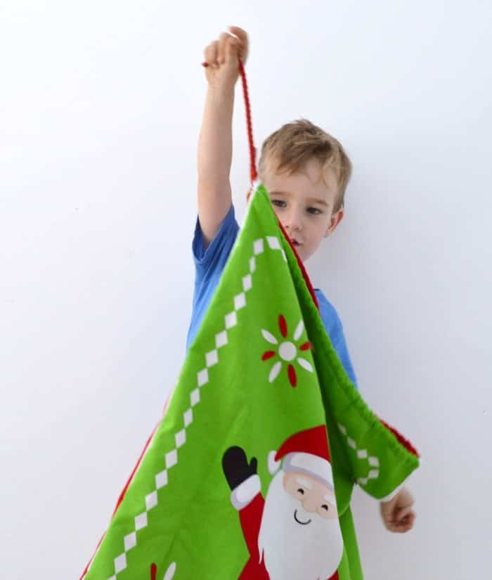 How to make a santa sack