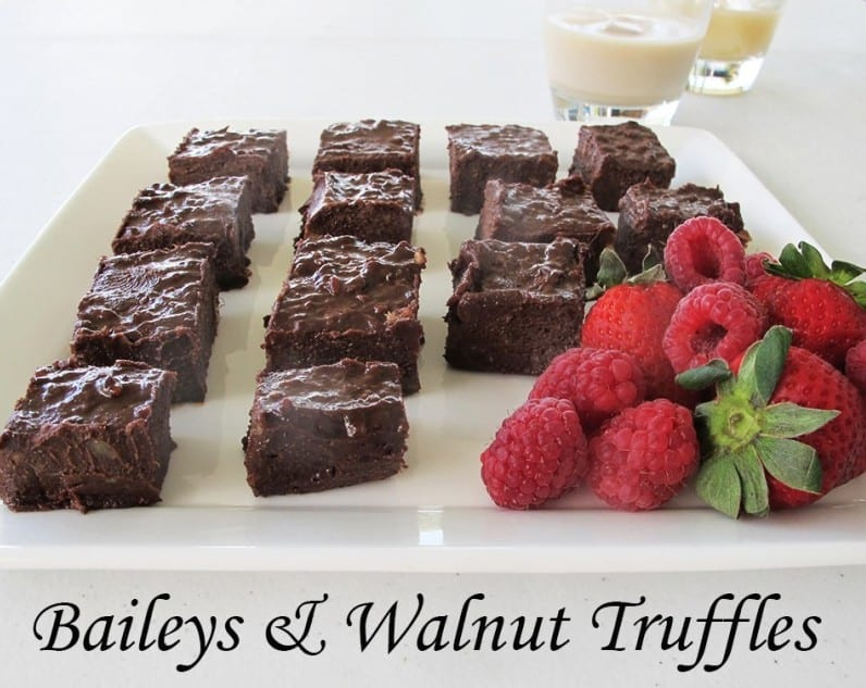 baileys and walnut truffle recipe