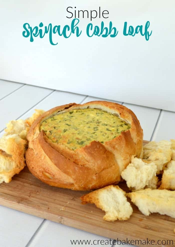 Simple Spinach Cobb Loaf 4