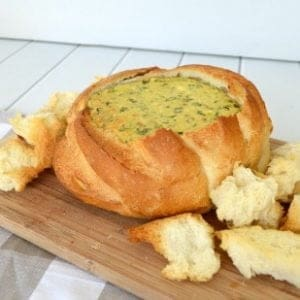 Simple Spinach Cobb Loaf Recipe