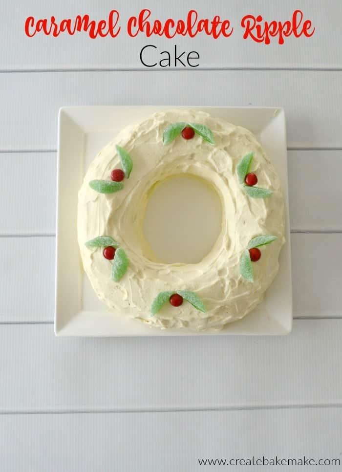 Caramel Chocolate Ripple Cake Recipe