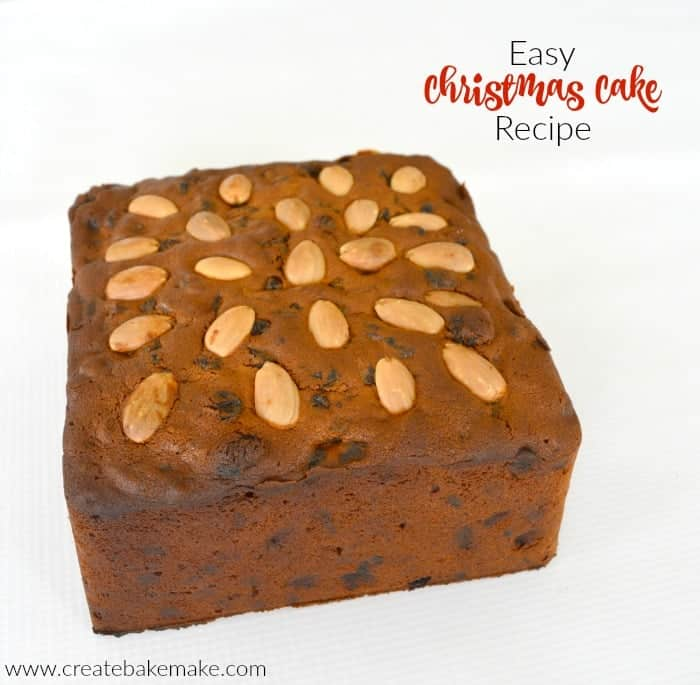 Easy Christmas Cake Recipe Create Bake Make