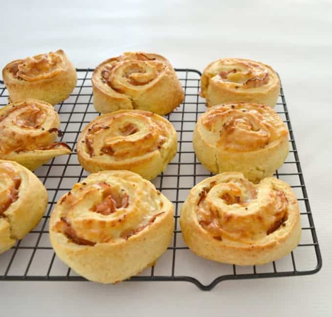 Easy Ham and Cheese Scrolls