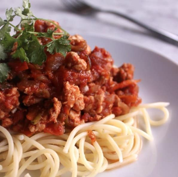 Healthy Chicken Spaghetti Bolognese
