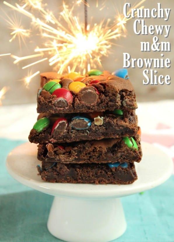 M&M Brownie Slice