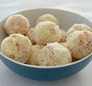 Three Ingredient Apricot and Coconut Balls