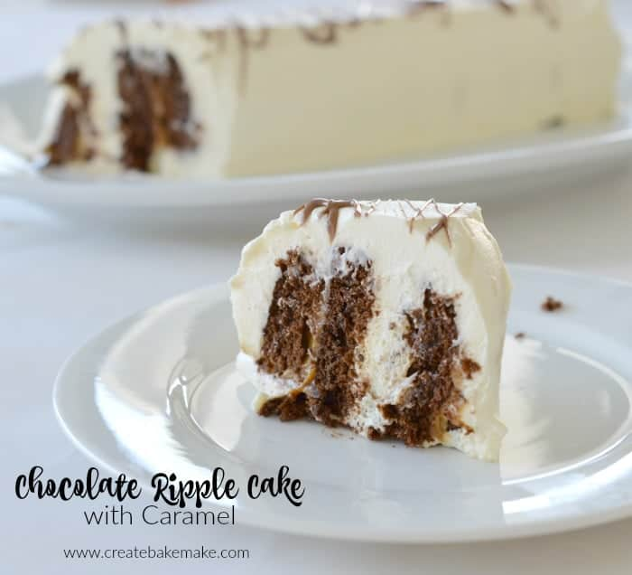 Caramel Chocolate Ripple Cake