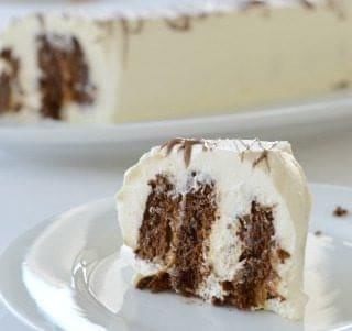 Chocolate Ripple Cake with Caramel