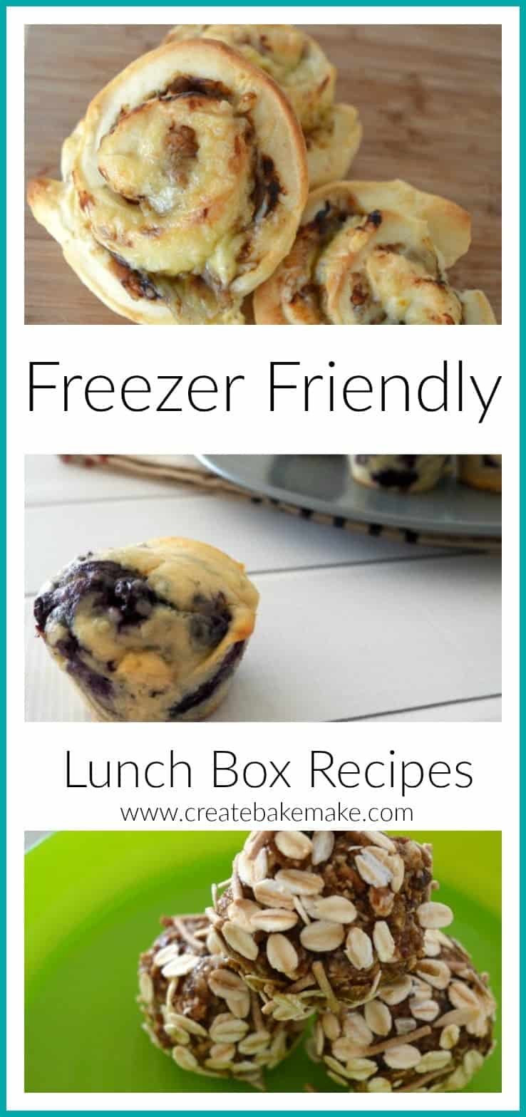 easy freezer friendly lunch box ideas