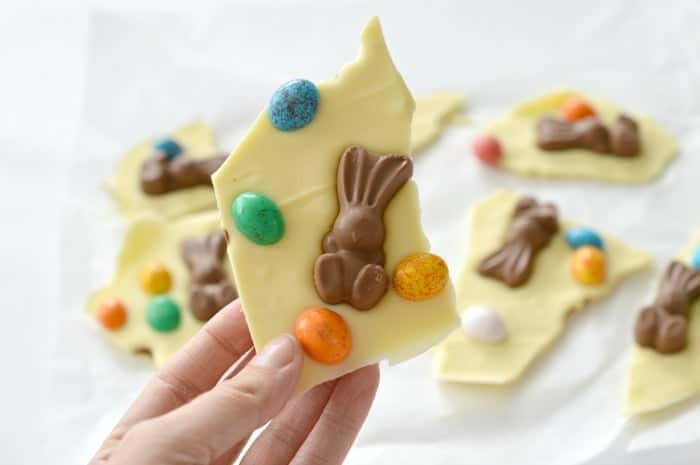 White Chocolate and Maltesers Easter Bark