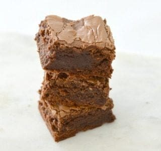 Nutella brownies stacked