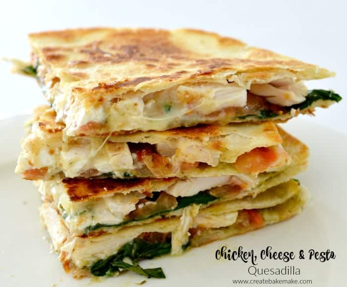 Chicken Cheese And Pesto Quesadilla Create Bake Make