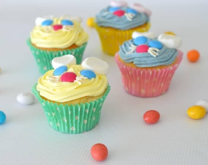 Lemon Easter Bunny Cupcakes 1