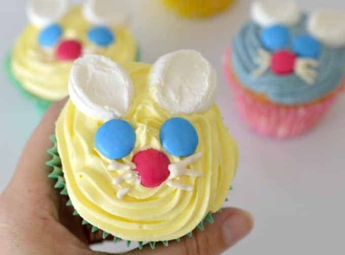 Lemon Easter Bunny Cupcakes