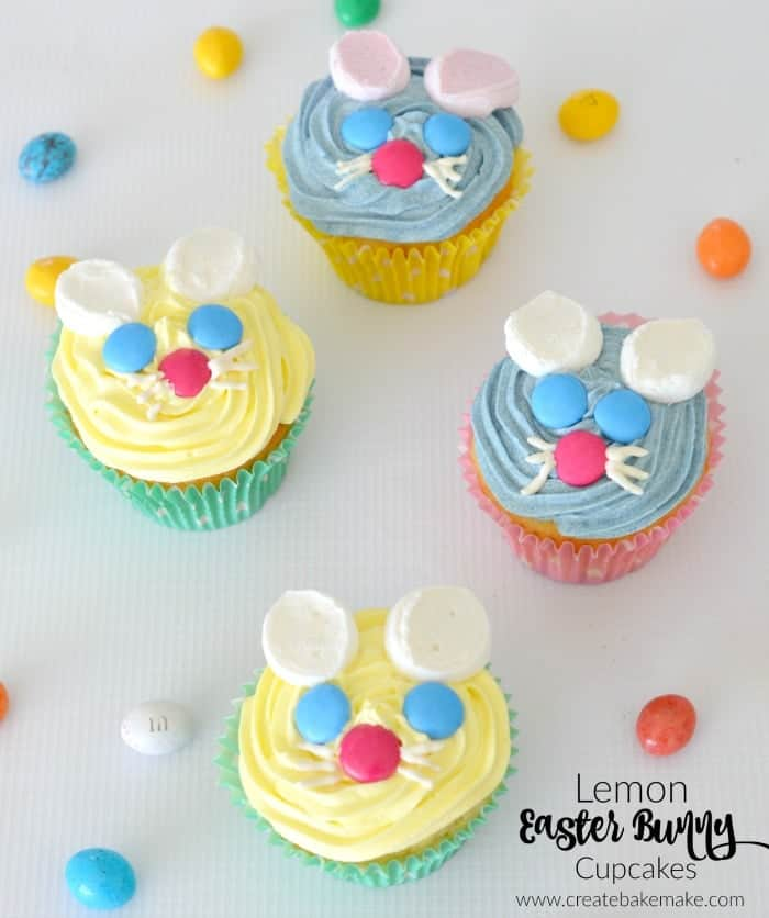 Lemon Easter Bunny Cupcakes