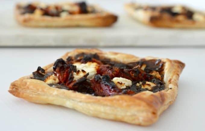 Simple Caramelised Onion and Feta Tarts