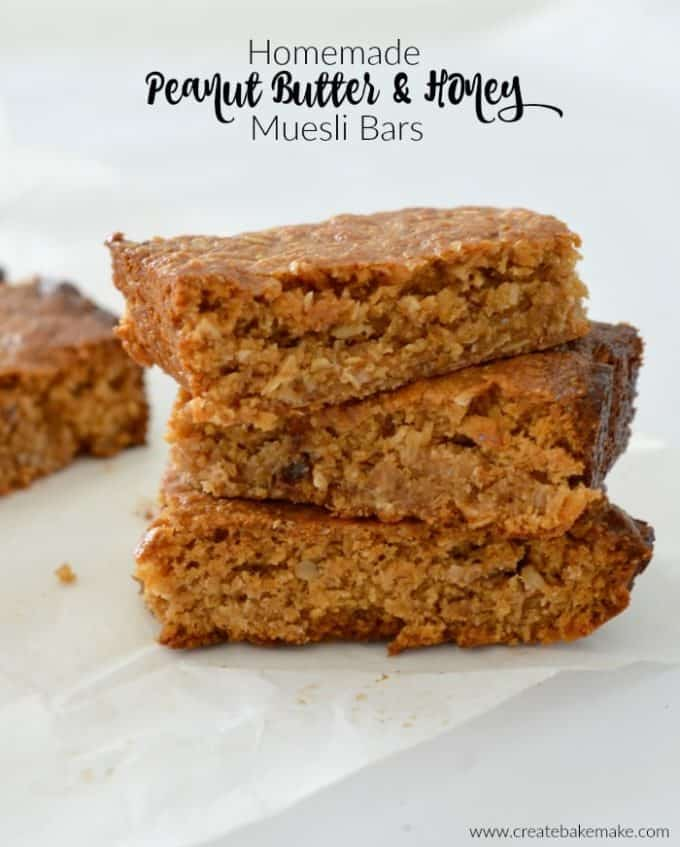 Thermomix Homemade Peanut Butter and Honey Muesli Bars