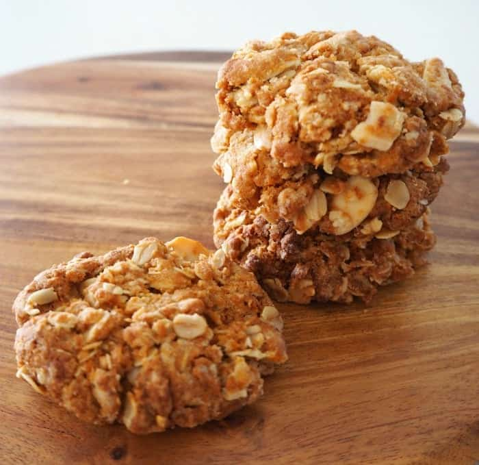 Almond Anzac Biscuits - Create Bake Make