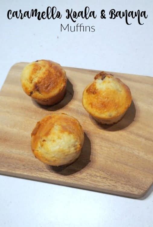 Caramello Koala and banana muffins recipe