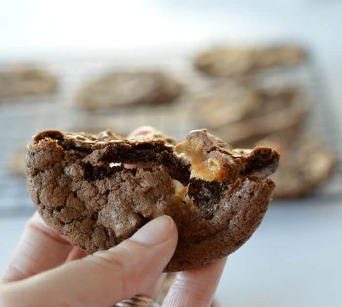 Chocolate Snickers Cookies