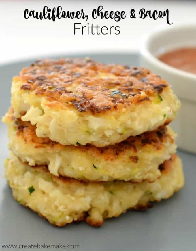 Cauliflower Bacon and Cheese Fritters