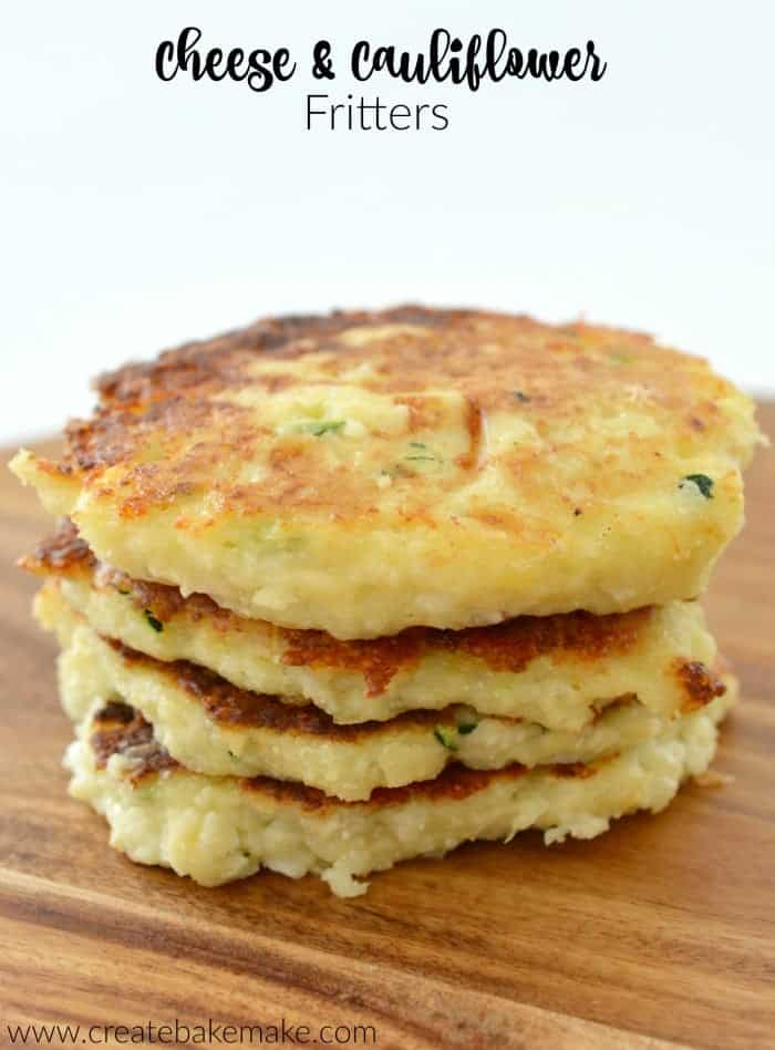 Cheese and Cauliflower Fritters Recipe