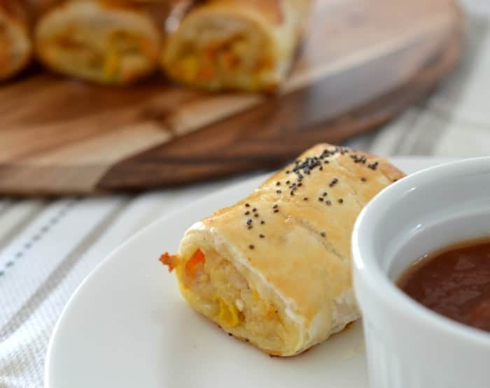 Easy Chicken and Cheese Sausage Rolls Recipe