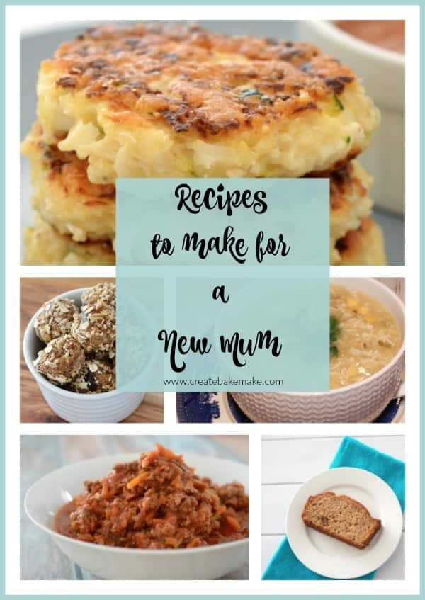 Recipes to make for a new mum