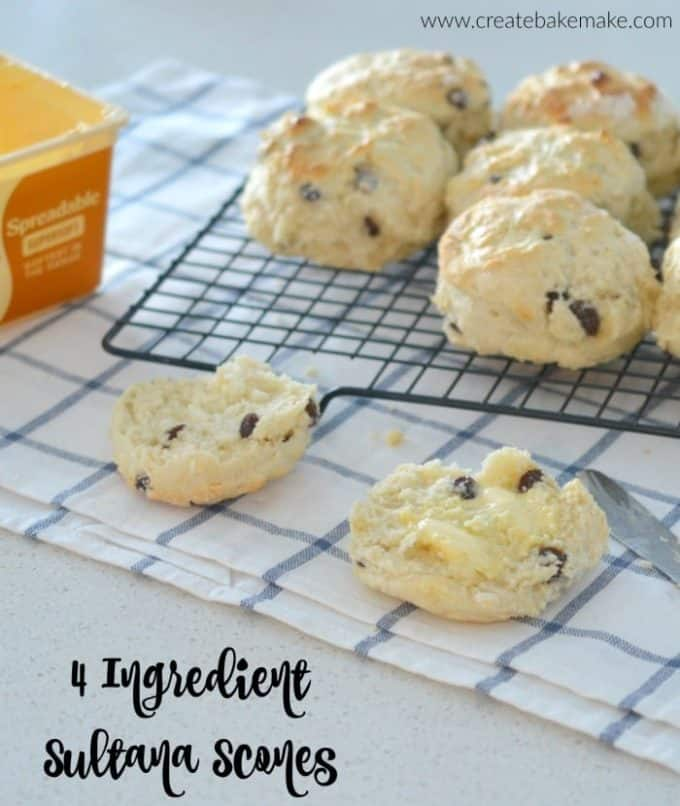 4 Ingredient Sultana Scones