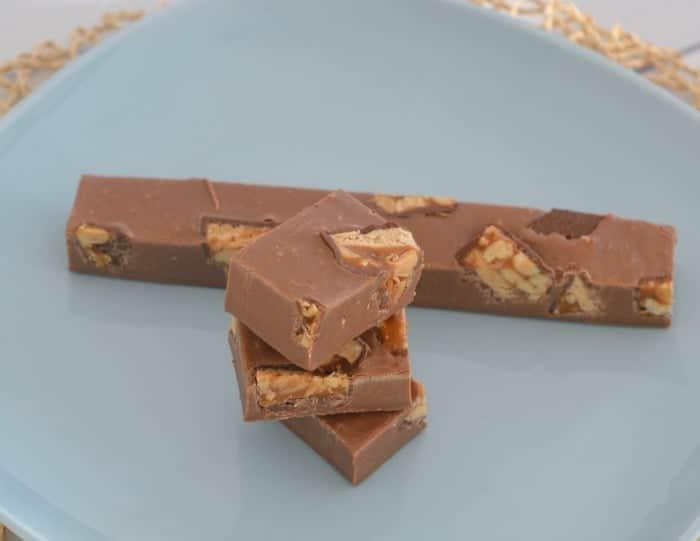 Three Ingredient Snickers Fudge