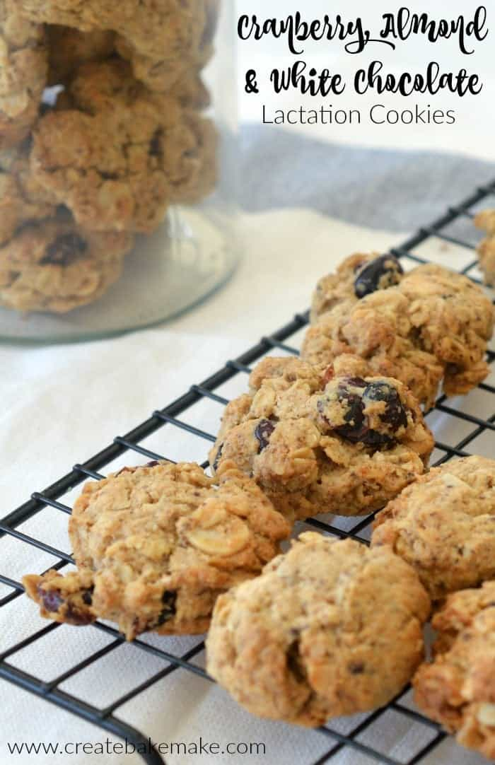 Cranberry Almond and White Chocolate Lactation Cookies ...