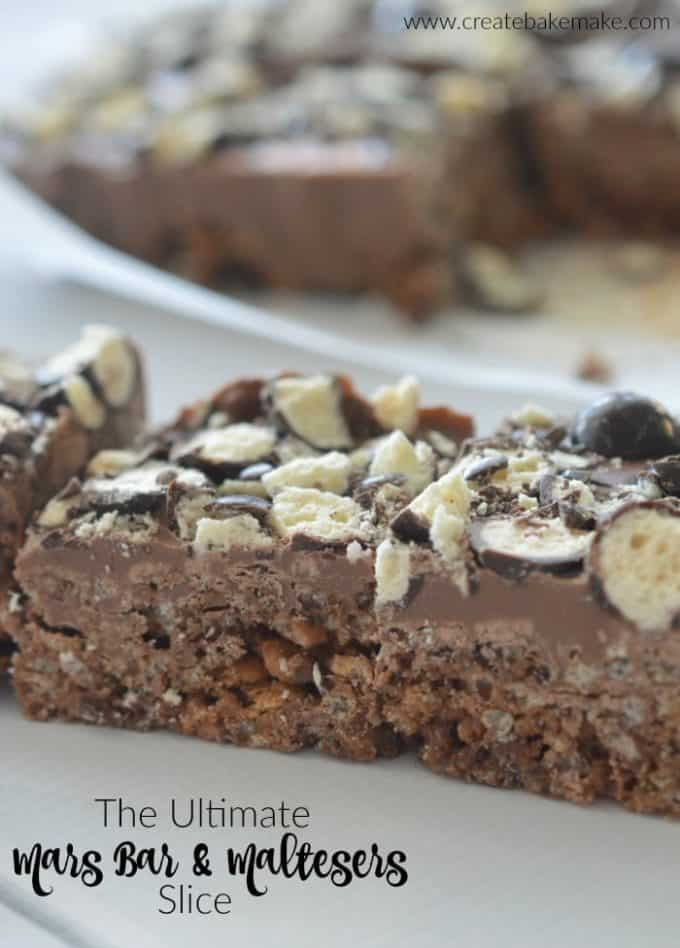 The Ultimate Mars Bar and Maltesers Slice Recipe